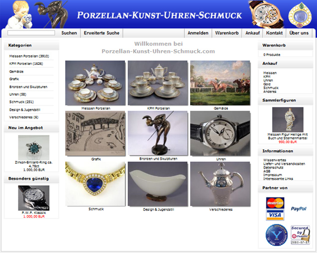 Www.porzellan Kunst Uhren